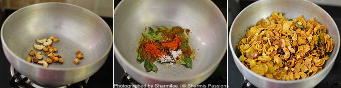 How to  make cornflakes mixture - Step2