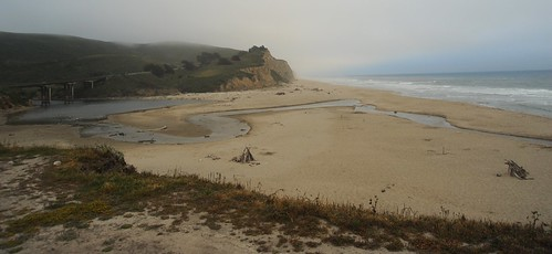 Highway 1, San Gregorio River, Named after Pope Gregory I (Saint Gregory the Great), San Gregorio beach, California, USA by Wonderlane