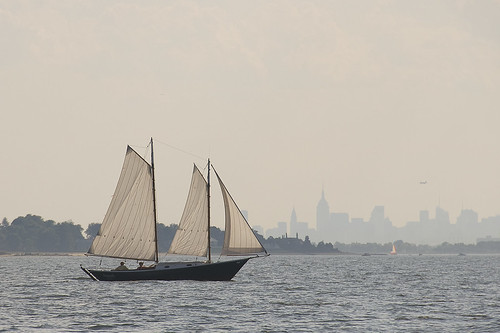 Manhattan Is an Island [Schooner on Long Island Sound] by jankor