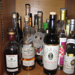 Dust Mite found the liquor cabinet