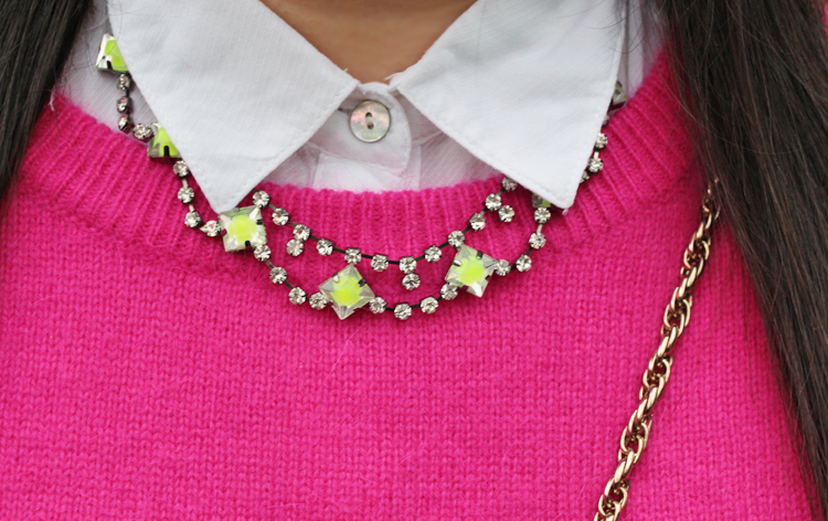pink and green collar shot