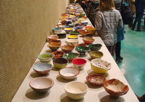 Bowls as far as you can see.