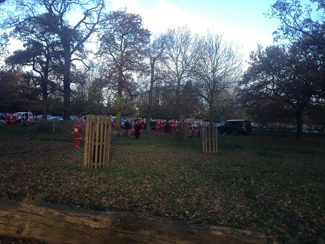 Santa Run in Richmond Park