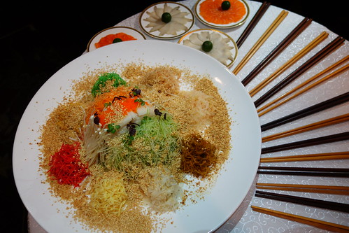Prosperity Yusheng with Norwegian Salmon (Chinese New Year 2014) at Yan Ting, St. Regis Singapore