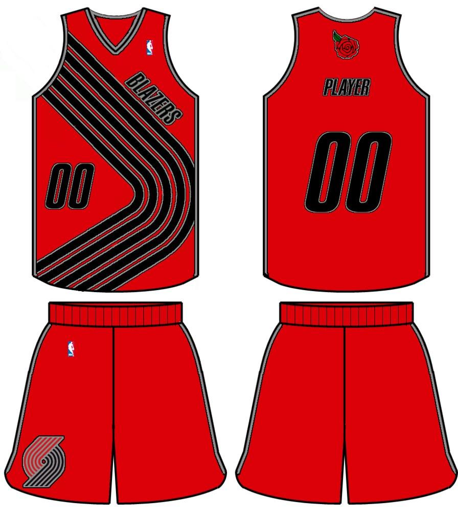 Uni Watch - Portland Trail Blazers redesign ideas 920952bb1