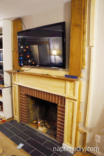 Fireplace Mantel Build 4 (via NaptimeDIY.com)