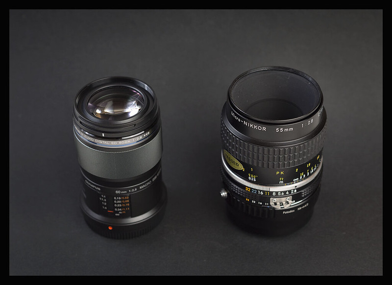 Olympus ZD60 vs the Micro-Nikkor 55mm