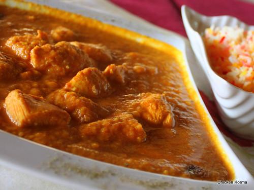 Chicken Korma, Roy's Pizza & Tandoori