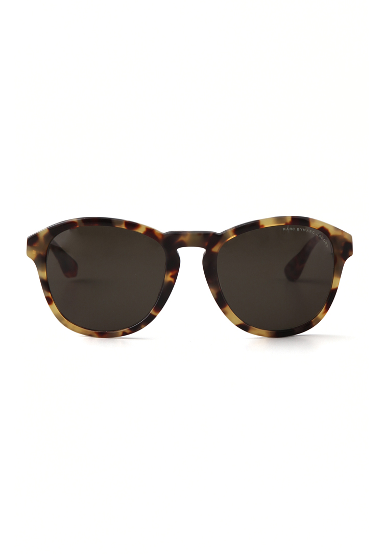 Marc by Marc Jacobs Round Sunglasses in Havana