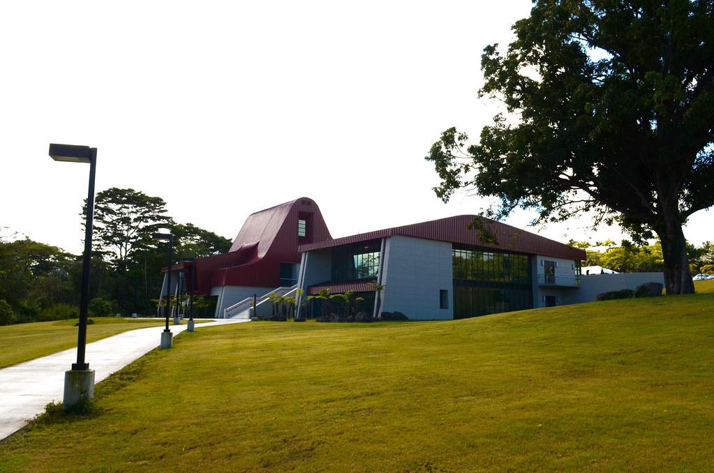 <p>A key feature of Haleʻōlelo is the high roof design inspired by the pili grass thatched home of Princess Ruth Ke'elikōlani, for whom the College is named: Ka Haka 'Ula O Ke'elikōlani College of Hawaiian Language. Ke'elikōlani's home, on the grounds of Hulihe'e Palace in Kailua-Kona on Hawaiʻi island, was known as Hale'ōlelo, or house of language.</p>