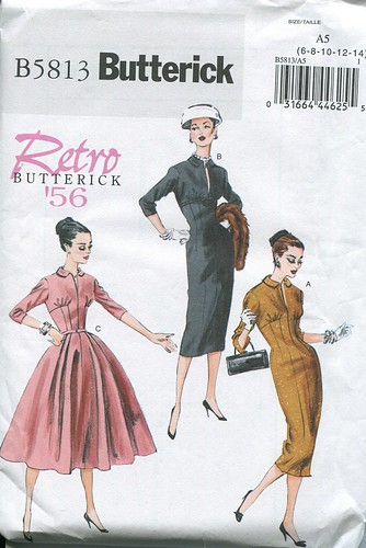 1956 Retro Butterick Pattern 5813