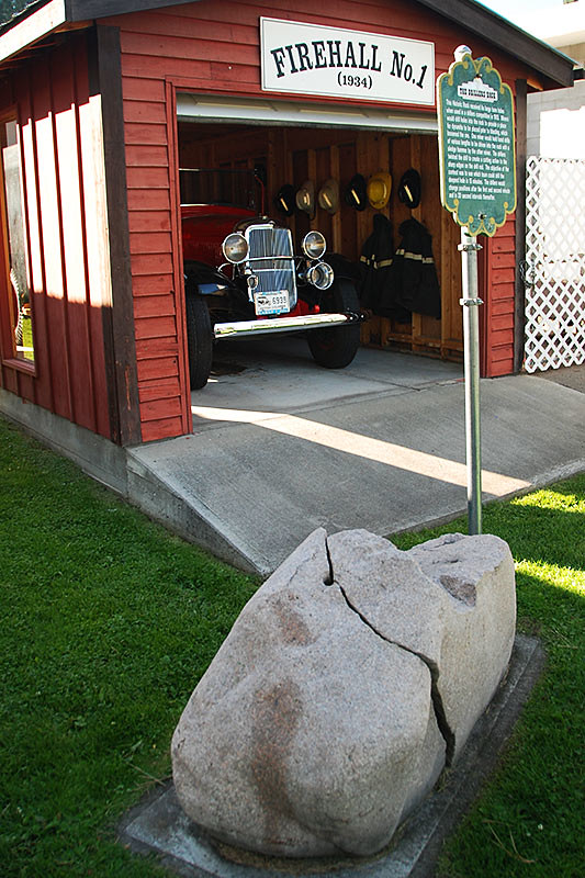 Fire Hall in Princeton, Similkameen region, Southern British Columbia