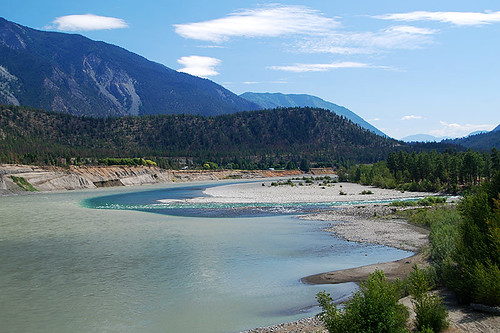 Seton River flows into the Fraser in Lillooet, Gold Country, Cariboo, British Columbia