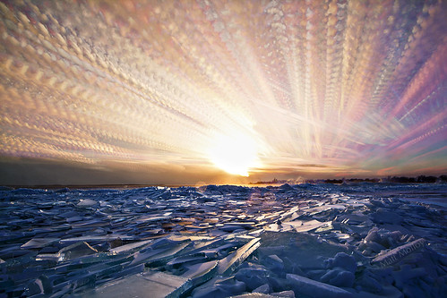 Icy Sunset a photo impressionistic image by Matt Molloy