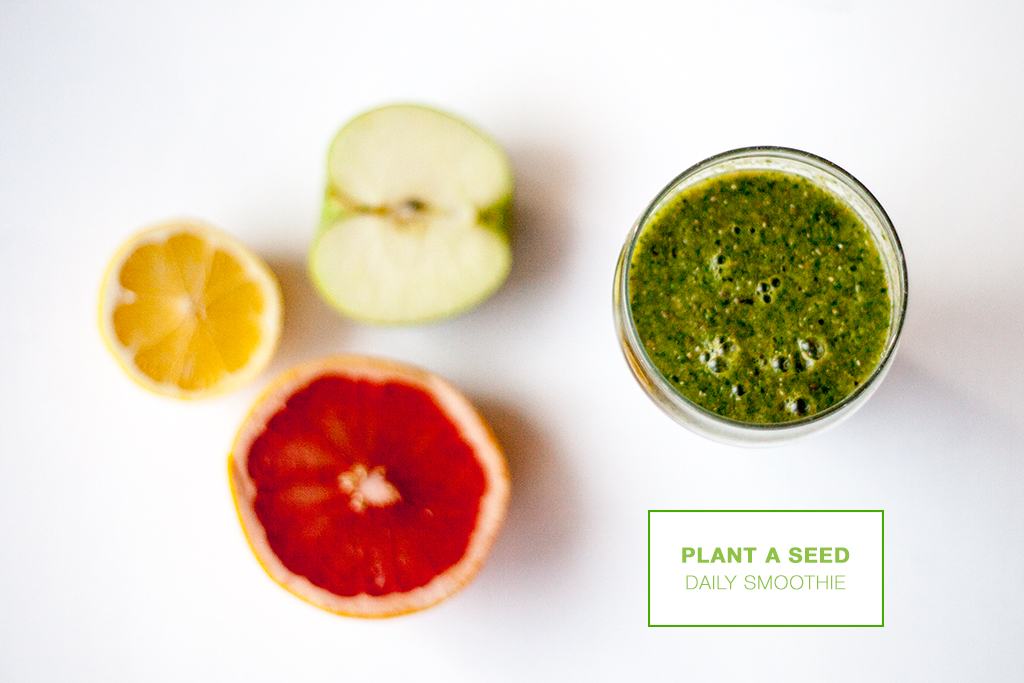 plant a seed // a smoothie a day