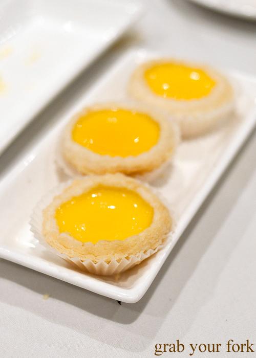 Daan tart egg custard tarts at The Eight, Chinatown