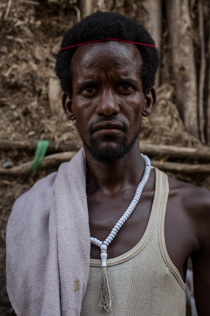 portrait of a man eissa somali tribe in Afar region
