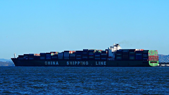 China Shipping Line Container Ship