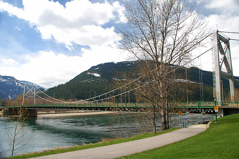 Trans Canada Highway Bridge over the Columbia River at Revelstoke, Kootenay Rockies, British Columbia, Canada