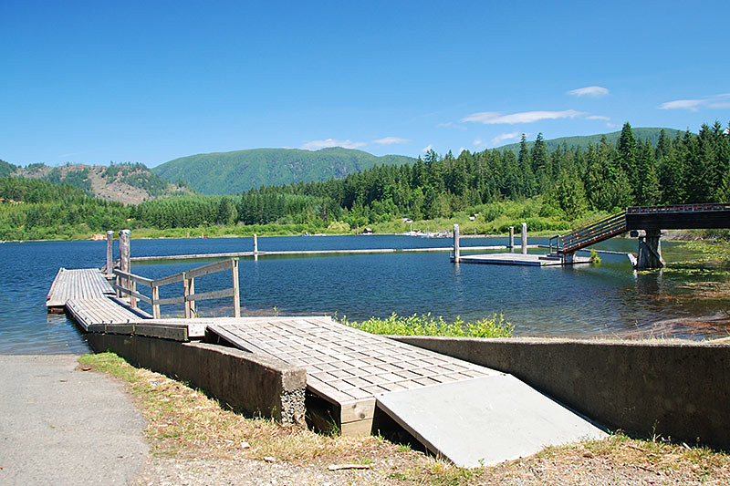 Bear Lake in the Community of Mesachie Lake, Cowichan Valley, Vancouver Island, British Columbia, Canada