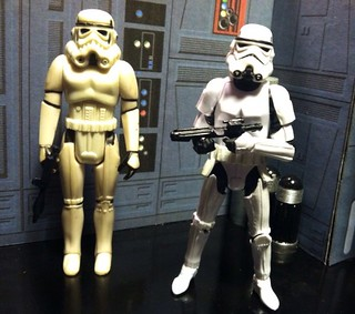 Star Wars Imperial Stormtrooper  Side By Side Vintage Kenner And Modern Hasbro