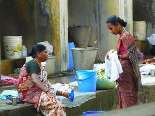 Doing the laundry, Kochi, Kerala, India
