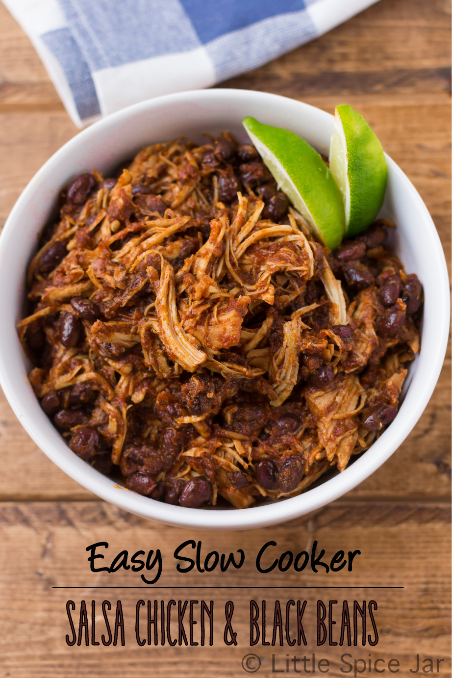 Easy-Slow-Cooker-Salsa-Chicken-with-Black-Beans-Shredded-Chicken-&-Black-Beans-with-text