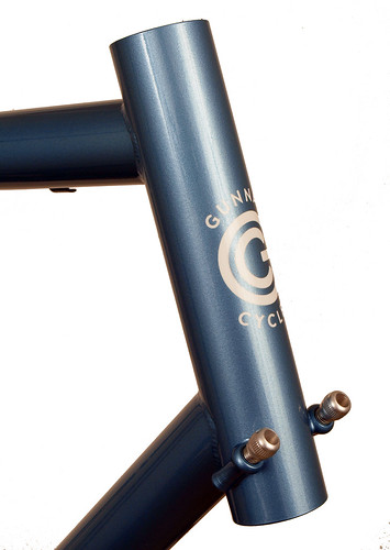 <p>Gunnar Sport in Englsih Blue with Custom Stripes.  The 57mm reach brakes allow for larger tiires and fenders than a standard road bike.  Plus, you get a smooth ride, perfect for centuries and other liesure riding and light touring.</p>