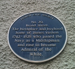 Photo of James Vashon blue plaque