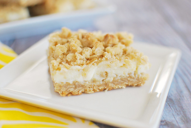 Creamy Lemon Crumb Bars - rich and creamy lemon bars with a oat crumb topping.