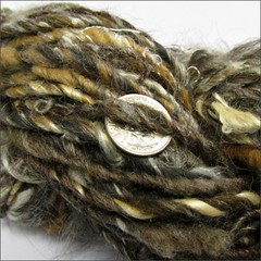 Natural 3 handspun, close up