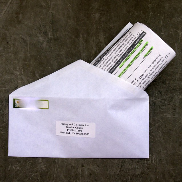 Putting a form 1500 into an envelope
