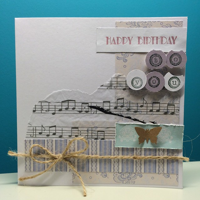 thrifty crafting - scraps card