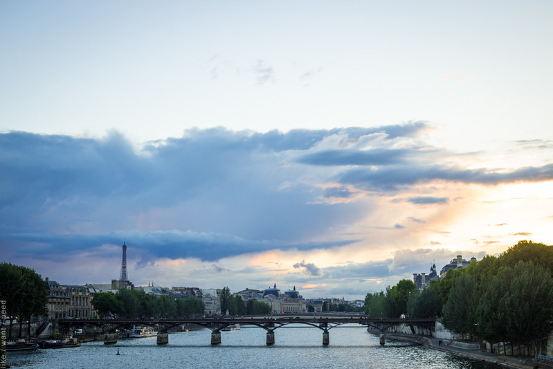 Eiffel Tower and the Seine, 9pm