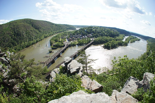 Harpers Ferry view from Maryland Heights Overlook