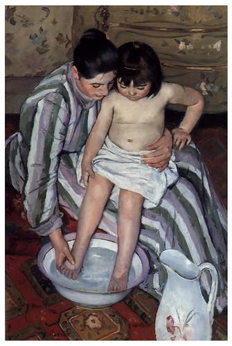 013 El baño-1891-92- Pintura al oleo- Mary Cassatt.