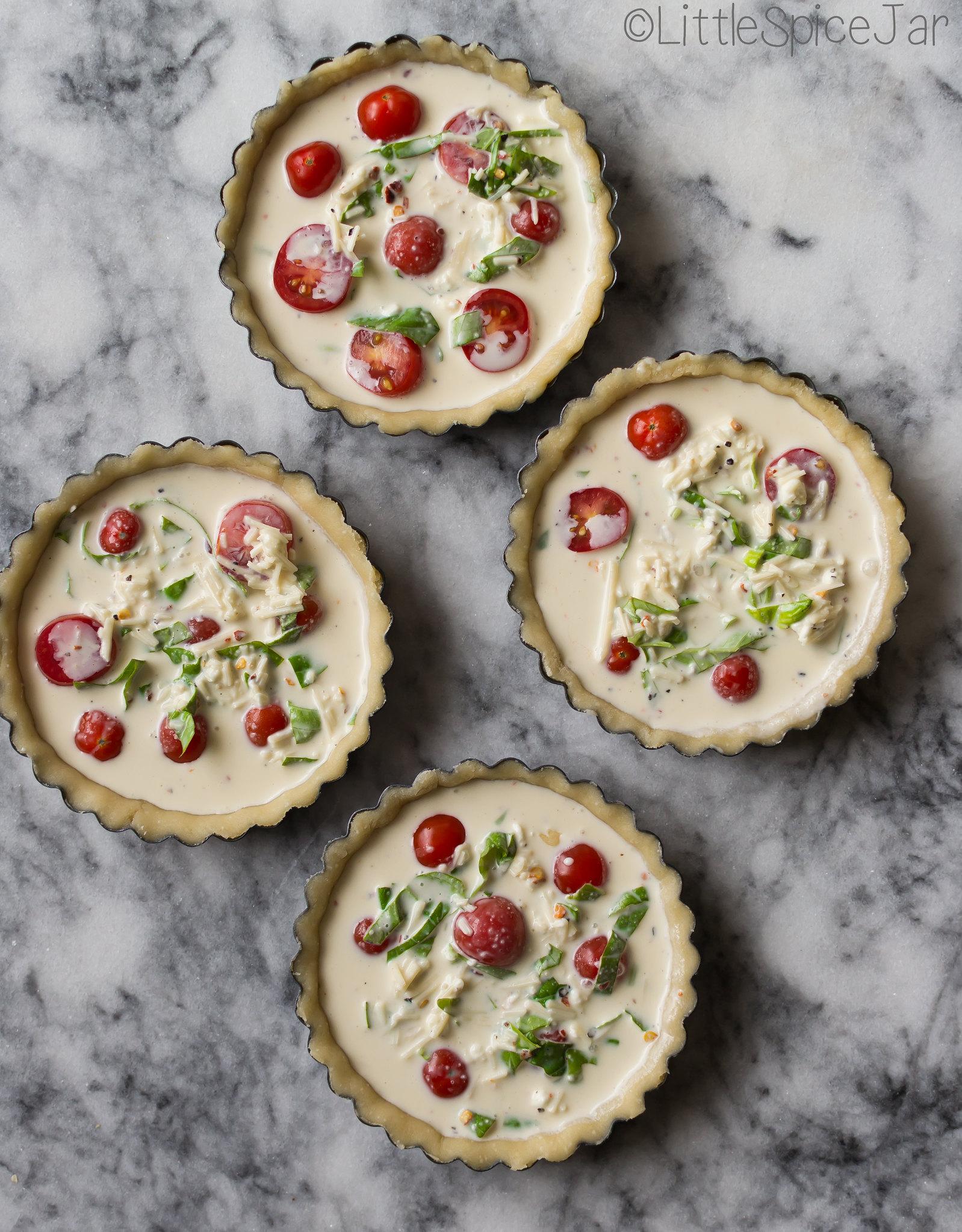 Quick & Easy Tomato Basil Tarts
