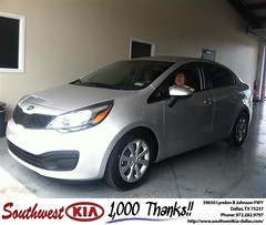Congratulations to Anita Wrye on your new car purchase from Mercado Salvador  at Southwest Kia Dallas! #NewCarSmell