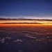 Sunset at 35,000 feet