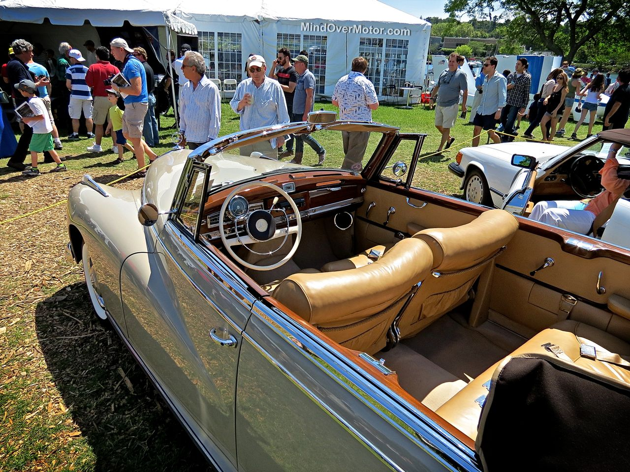 Classic Mercedes Convertible at Greenwich 2014