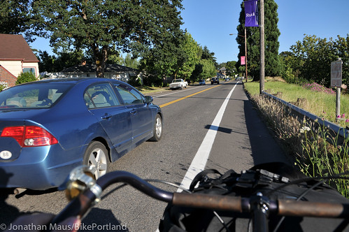 N Willamette Blvd bike lanes-8
