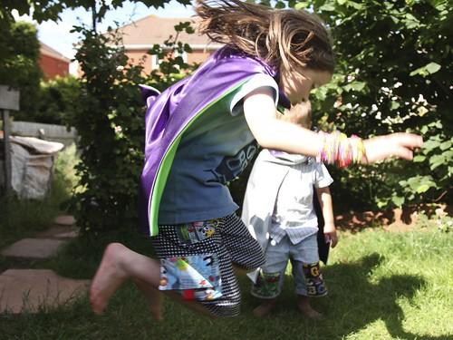 Superhero Cape in action