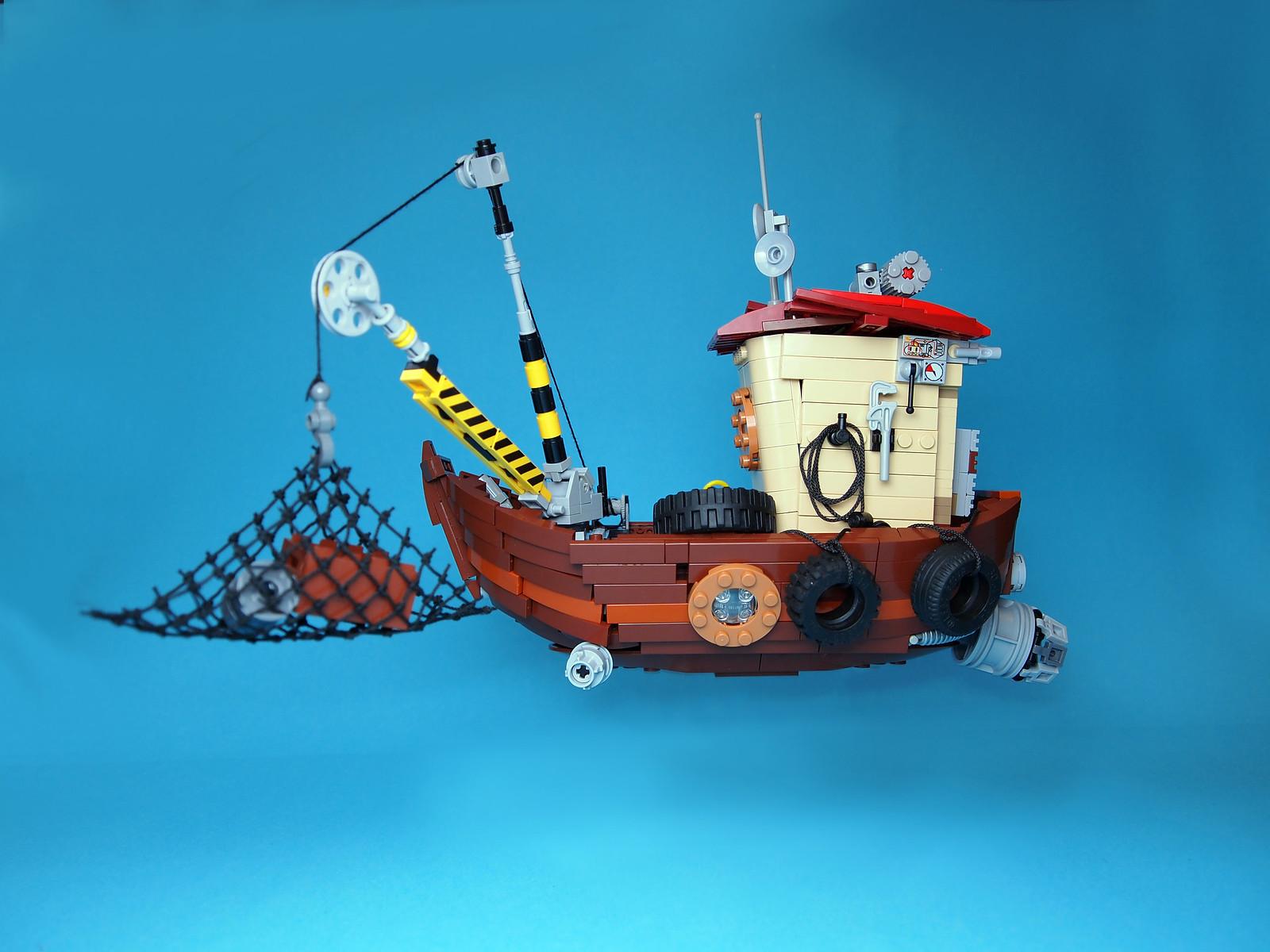 лего саморобка повітряний човен