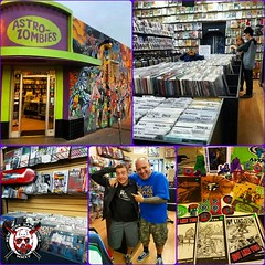Gotta Love The NYHC Family! Checked Out #AstroZombiesComics In #Albuquerque #NewMexico Today & Got Treated Like #Family Just Because Of Our Shared #Love For #NYHC & #PunkRock. Mike Owner Hooked Us Up With #Comics, #TShirts, His Own #Zine & #Sticker. Picke