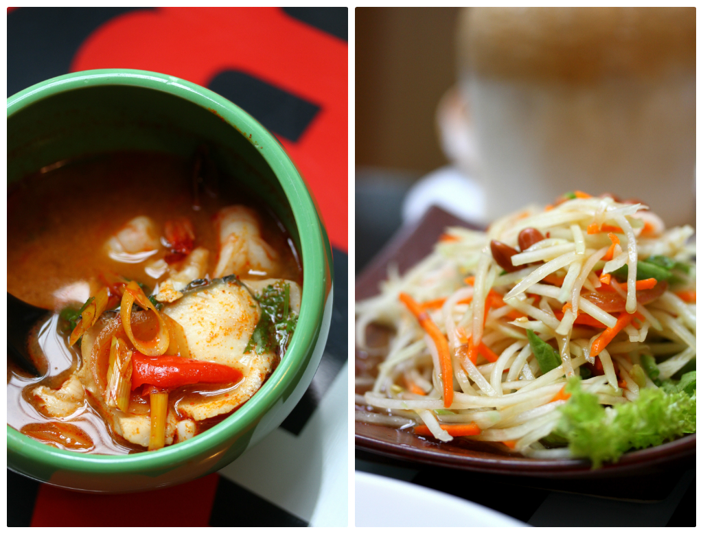 Bangkok Jam's Seafood in Red Tom Yum & Green Payaya Salad