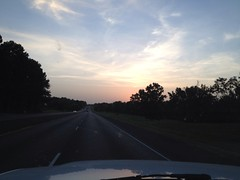 Sunset on hwy 31