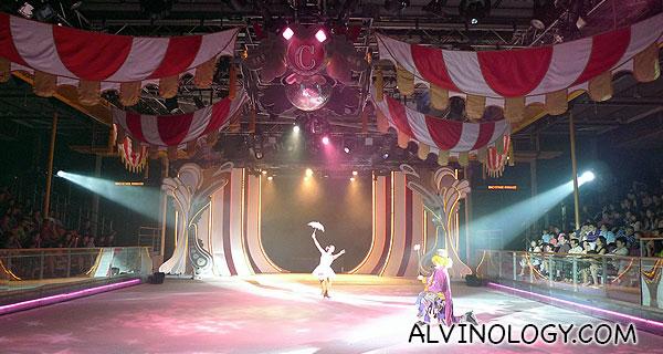 A love skit between a ballerina and a clown