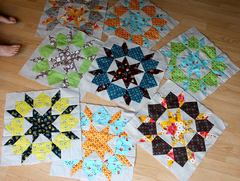 Swoon Blocks So Far (8 out of 25)