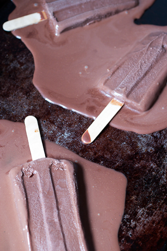 Dark Chocolate Fudge Pops #icecreamweek