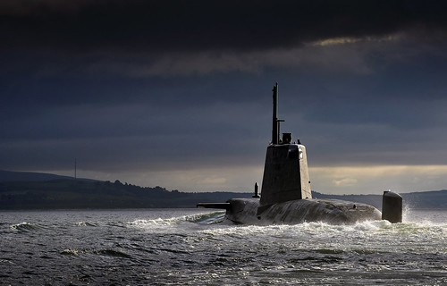 HMS Ambush Returning to HMNB Clyde, Scotland